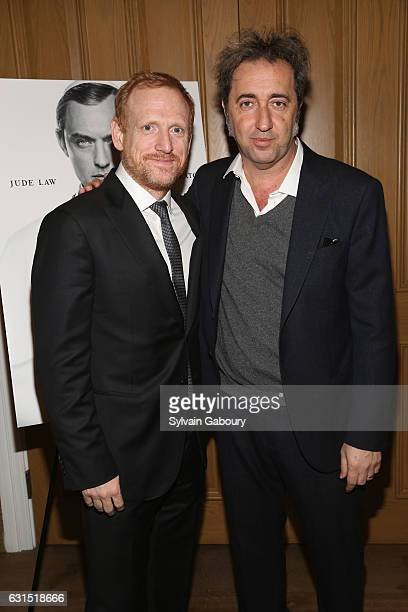 """Scott Shepherd and Paolo Sorrentino attend The Cinema Society Hosts a Screening of HBO's """"The Young Pope"""" on January 11, 2017 in New York City."""