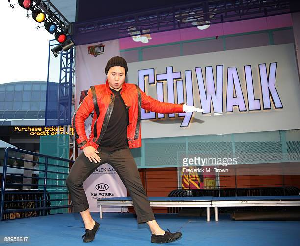 Scott Shieh won the MoonWalk contest during the Universal MoonWalk tribute to Michael Jackson at Universal CityWalk on July 9 2009 in Universal City...