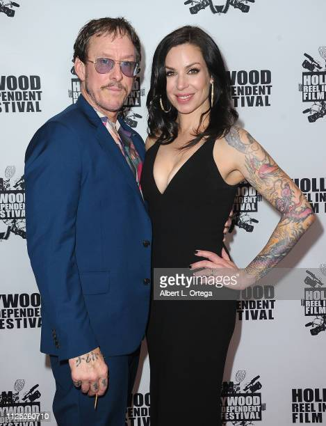 Scott Shriner and Jillian Lauren arrive for The 2019 Hollywood Reel Independent Film Festival held at Regal LA Live Stadium 14 on February 15 2019 in...