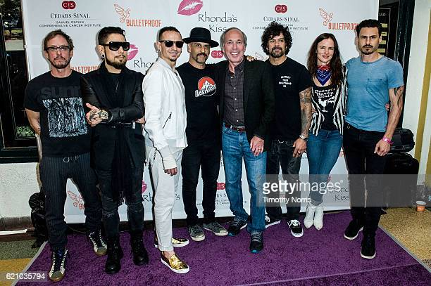 Scott Shriner Dave Navarro Chester Bennington Dave Kushner Marc Stefanski Joey Castillo Juliette Lewis and Brad Wilk attend Rhonda's Kiss at El Rey...