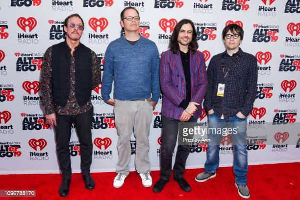 Scott Shriner, Patrick Wilson, Brian Bell and Rivers Cuomo of Weezer attend iHeartRadio ALTer Ego at The Forum on January 19, 2019 in Inglewood,...
