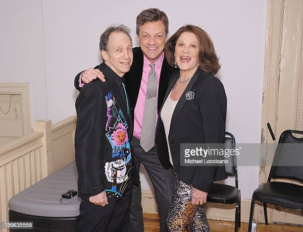 Scott Siegel Jim Caruso and actress Linda Lavin attend the Best of Jim Caruso's cast party at Town Hall on February 23 2012 in New York City