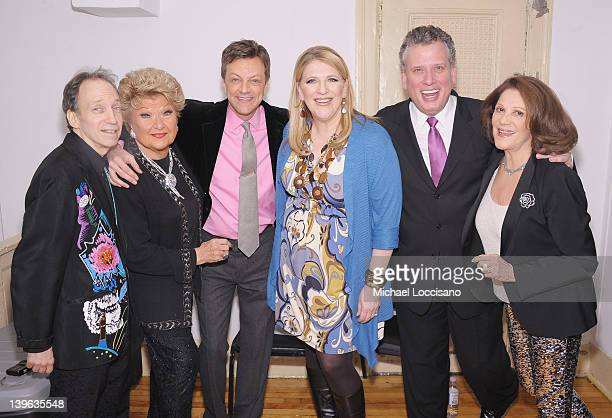 Scott Siegel singer Marilyn Maye Jim Caruso comedian Lisa Lampanelli pianist Billy Stritch and actress Linda Lavin attend the Best of Jim Caruso's...