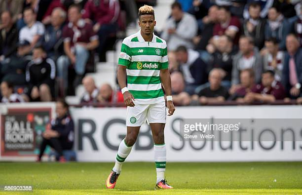 Scott Sinclair makes his first appearance for Celtic during the Ladbrokes Scottish Premiership match between Hearts and Celtic on August 7 2016 in...