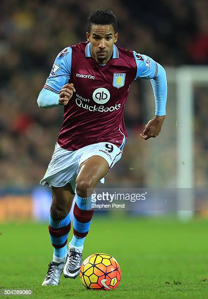 Scott Sinclair of Aston Villa during the Barclays Premier League match between Norwich City and Aston Villa at Carrow Road stadium on December 28...