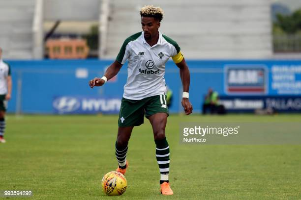 Scott Sinclair of Celtic controls the ball during the Club Friendly match between Shamrock Rovers and Celtic FC at Tallaght Stadium in Dublin Ireland...