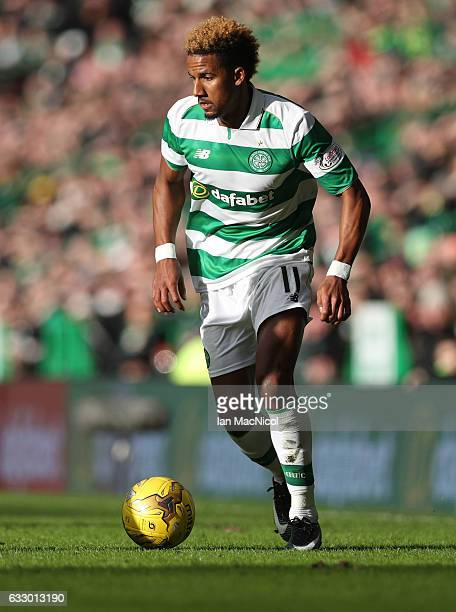 Scott Sinclair of Celtic controls the ball during the Ladbrokes Scottish Premiership match between Celtic and Heart of Midlothian at Celtic Park...