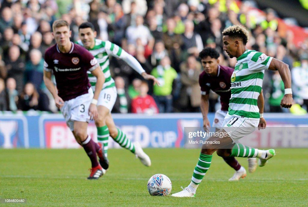 Heart of Midlothian FC  v Celtic FC - Betfred Scottish League Cup Semi Final : News Photo
