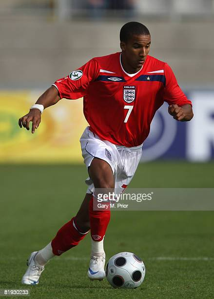 Scott Sinclair of England during the UEFA European U19 Championship Group B match between Czech Republic and England at the Jablonec nN stadium on...