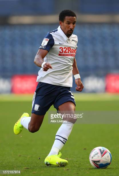Scott Sinclair of Preston North End runs with the ball during the Sky Bet Championship match between Preston North End and Swansea City at Deepdale...