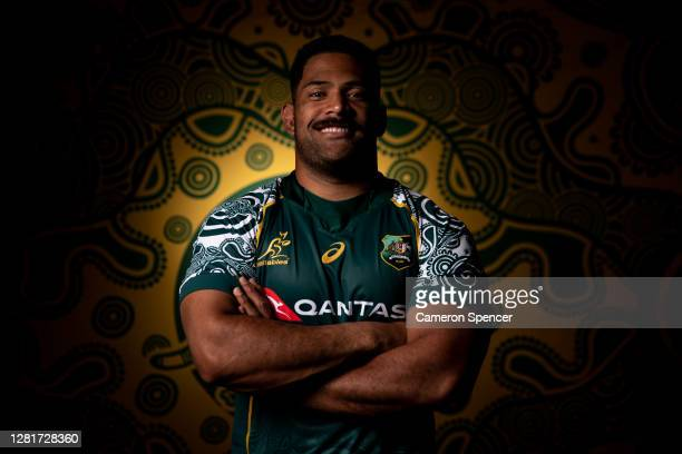 Scott Sio of the Wallabies poses during the Australian Wallabies 2020 First Nations Jersey portrait session on October 22 2020 in the Hunter Valley...