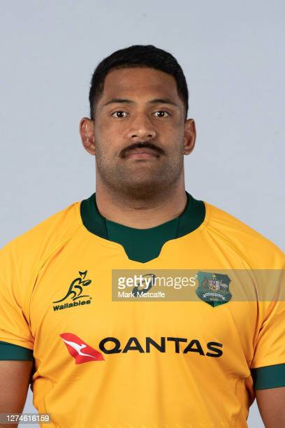 Scott Sio poses during the Australian Wallabies rugby team headshots session at the Crowne Plaza on September 21 2020 in the Hunter Valley Australia