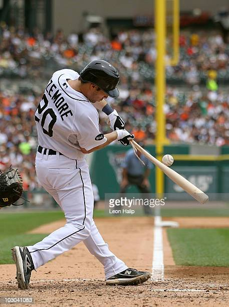 Scott Sizemore of the Detroit Tigers bats in the eighth inning during the game against the Toronto Blue Jays on July 22 2010 at Comerica Park in...