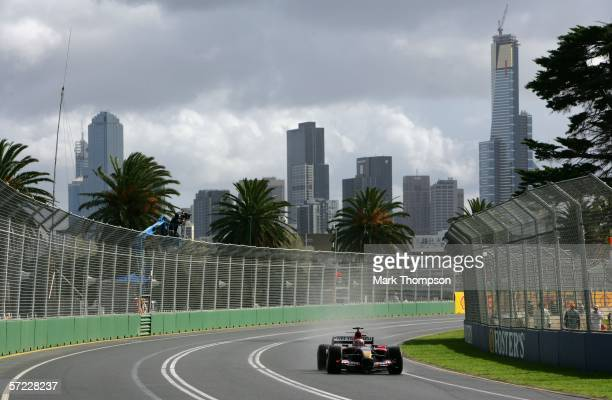 Scott Speed of San Jose USA drives his Scuderia Toro RossoCosworth during practice prior to qualifying for the Australian Formula One Grand Prix at...