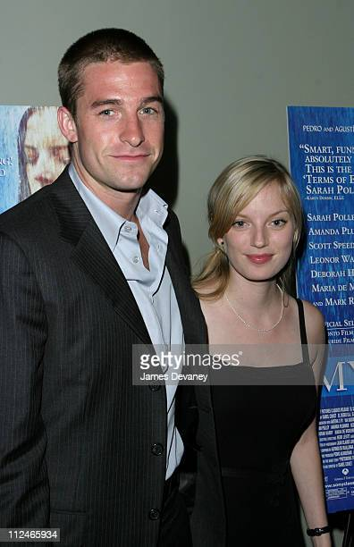 """Scott Speedman and Sarah Polley during """"My Life Without Me"""" Premiere at Landmark's Sunshine Theater in New York City, New York, United States."""