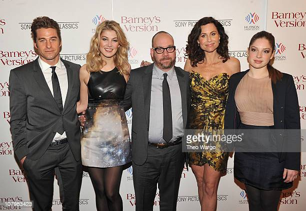 Scott Speedman Rosamund Pike Paul Giamatti Minnie Driver and Anna Hopkins attend the New York premiere of Barney's Version at The Paris Theatre on...