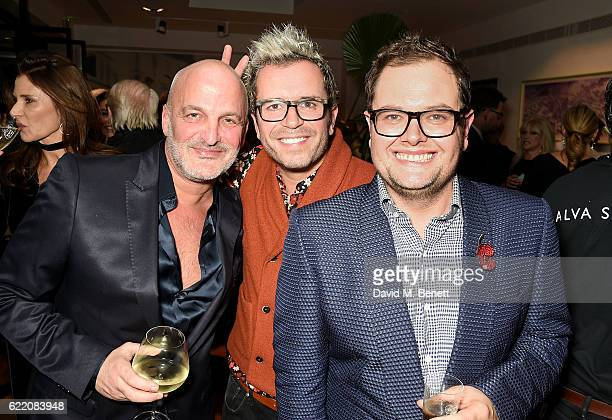 Scott Spiro Paul Drayton and Alan Carr attend the anniversary party for Kelly Hoppen MBE celebrating 40 years as an Interior Designer at Alva Studios...