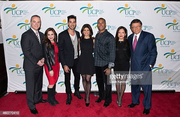 Scott Stanford Mike Woods MrG Javier Gomez Teresa Priolo Tamsen Fadal Ines Rosales attend the 5th Annual UCP Of NYC Santa Project Party Auction...