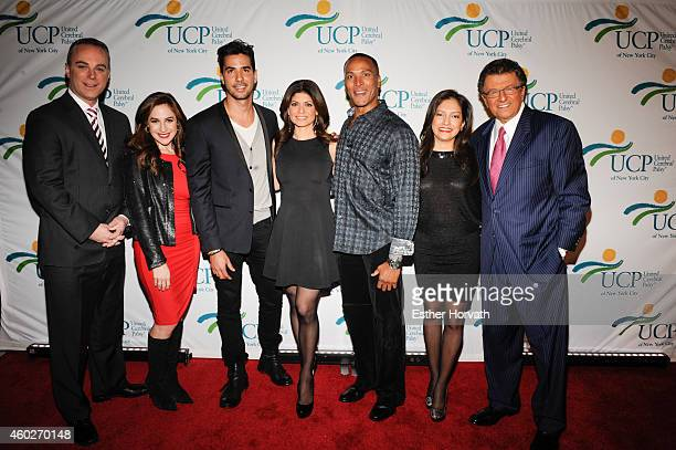 Scott Stanford Teresa Priolo Javier Gomez Tamsen Fadal Mike Woods Ines Rosales and MrG attend 5th Annual UCP Of NYC Santa Project Party Auction...