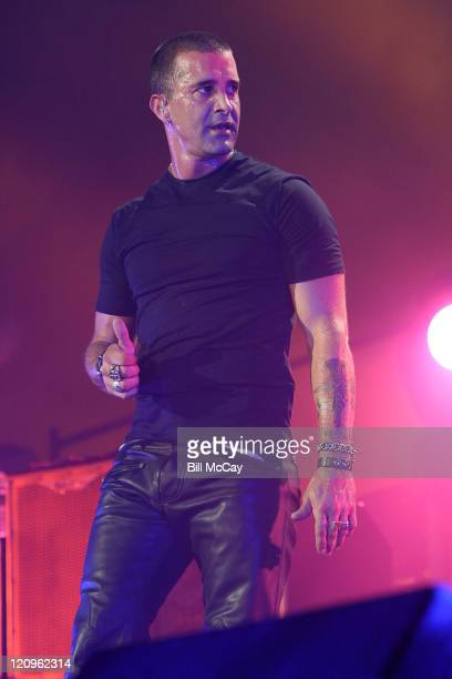 Scott Stapp lead singer for Creed performs live at the Susquehanna Bank Center August 13 2009 in Camden New Jersey
