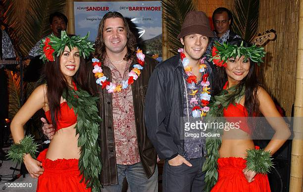 Scott Stapp of 'Creed' and Jason Mraz during '50 First Dates' Premiere at Mann Village Theatre in Westwood California United States