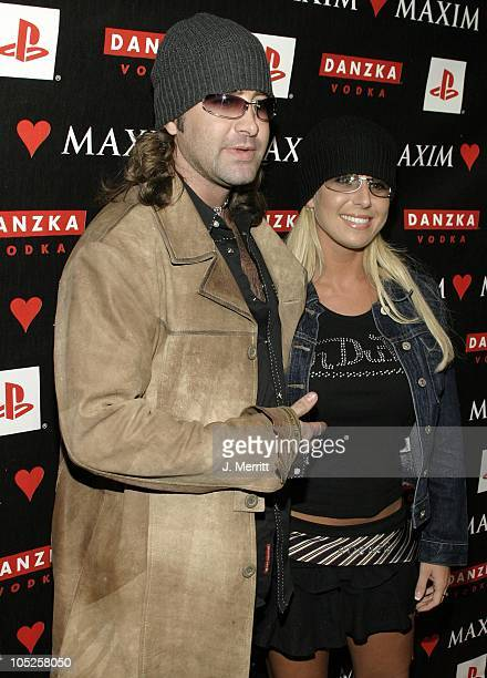 Scott Stapp of Creed and sister Amanda during Maxim Magazine Valentines Day Love Party Arrivals at Papaz in Hollywood California United States