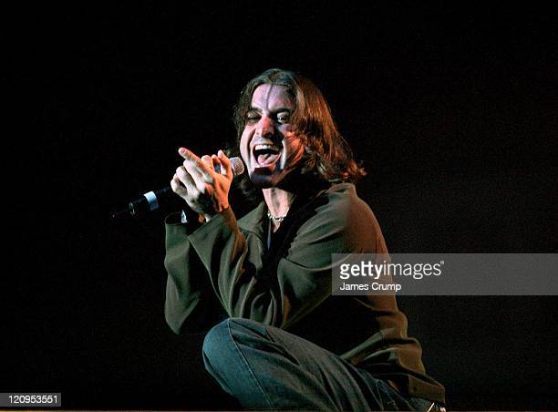 Scott Stapp of Creed performs the tour opener at the Aragon Ballroom in Chicago. October 14, 1999.