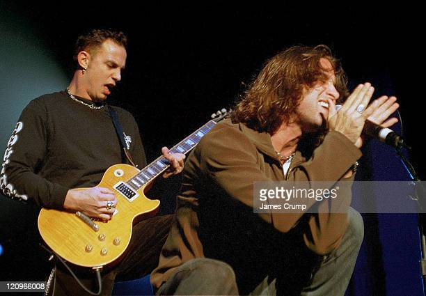 Scott Stapp of Creed performs the tour opener at the Aragon Ballroom in Chicago October 14 1999
