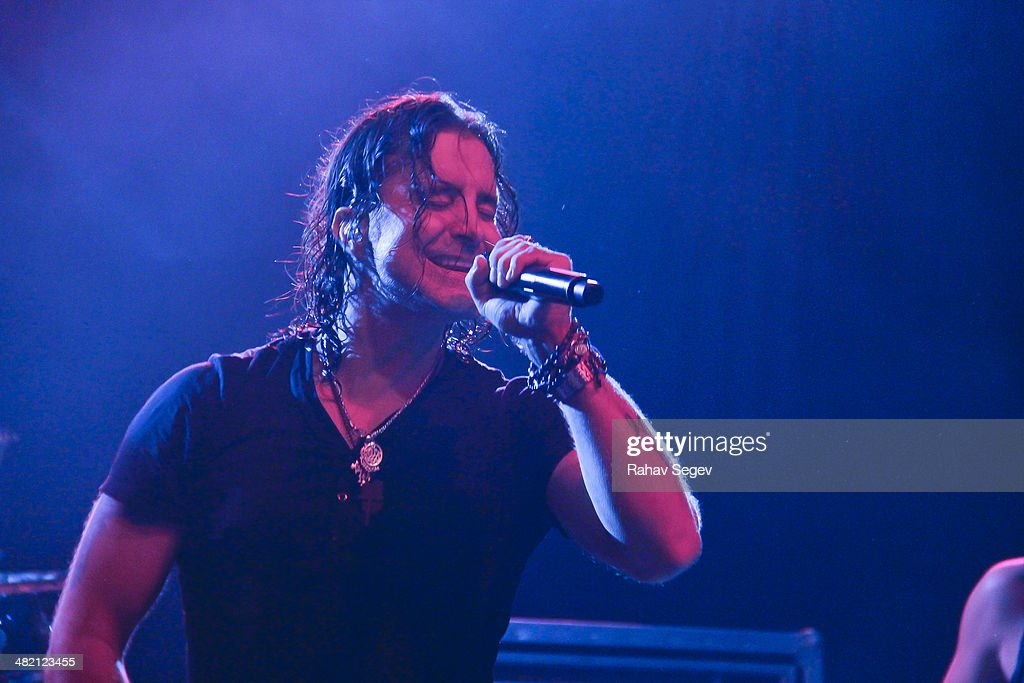 Scott Stapp performs at Irving Plaza on April 2, 2014 in New York City.