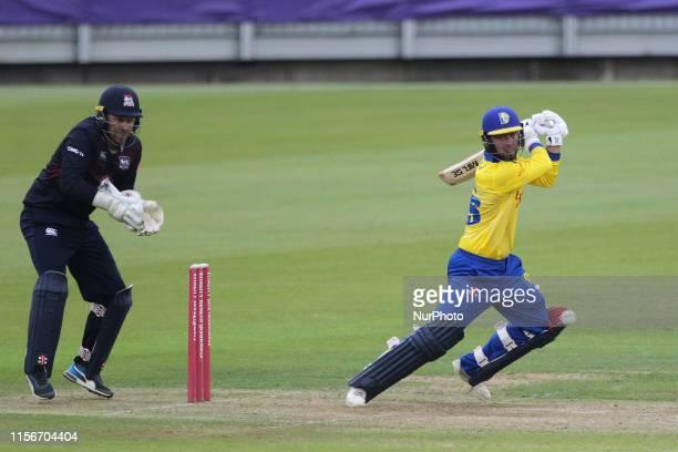 Scott Steel of Durham batting during the Vitality T20 Blast match between Durham County Cricket Club and Northamptonshire County Cricket Club at...