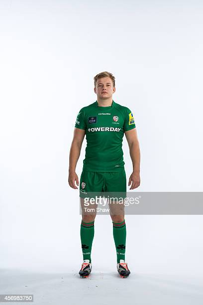 Scott Steele of London Irish poses for a picture during the BT PhotoShoot at Sunbury Training Ground on August 27 2014 in Sunbury England
