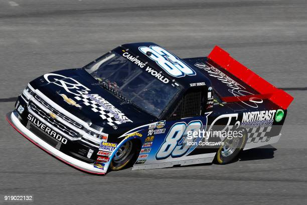 Scott Stenzel Copp Motorsports E2 Northeast Motorsports Chevrolet Silverado during practice for the NextEra Energy Resources 250 NASCAR Camping World...