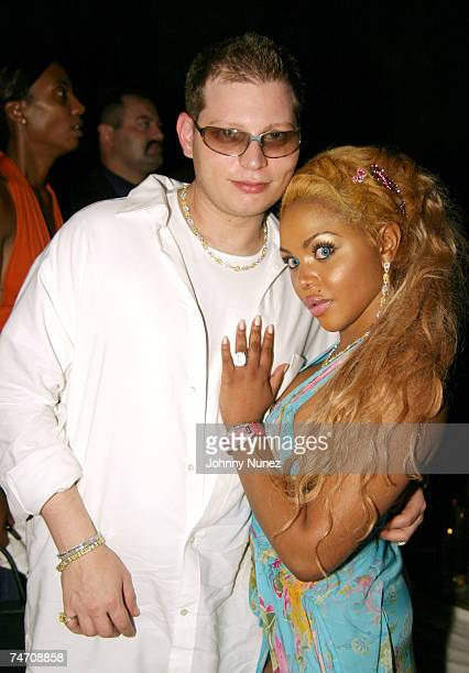 Scott Storch and Lil' Kim at the Sky Bar at The Shore Club in Miami Florida