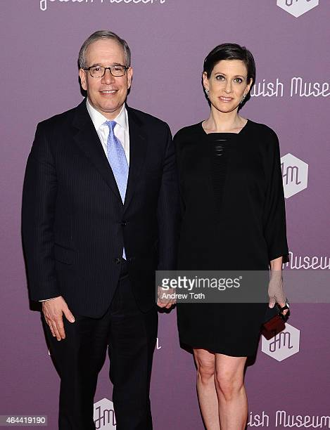 Scott Stringer and Elise Buxbaum attend The Jewish Museum's Purim Ball 2015 at the Park Avenue Armory on February 25 2015 in New York City