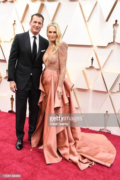 Scott Stuber and Molly Sims attend the 92nd Annual Academy Awards at Hollywood and Highland on February 09, 2020 in Hollywood, California.