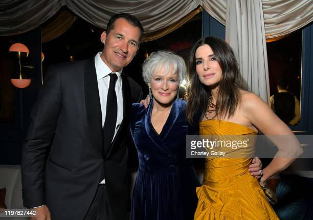 Scott Stuber Glenn Close and Sandra Bullock attends the Netflix 2020 Golden Globes After Party on January 05 2020 in Los Angeles California