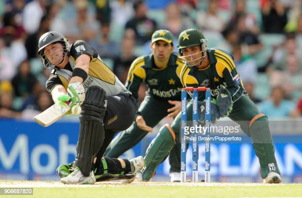 Scott Styris batting for New Zealand during the ICC World Twenty20 Super Eight match between New Zealand and Pakistan at The Oval London 13th June...