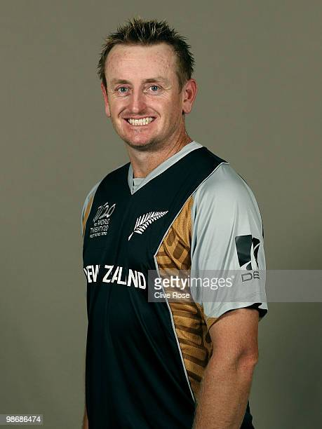 Scott Styris of New Zealand poses during a portrait session ahead of the ICC T20 World Cup at the Pegasus Hotel on April 26 2010 in Georgetown Guyana