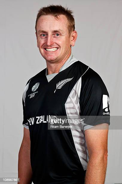 Scott Styris of New Zealand poses for a portrait during the New Zealand Team Portrait Session on February 10 2011 in Nagpur India