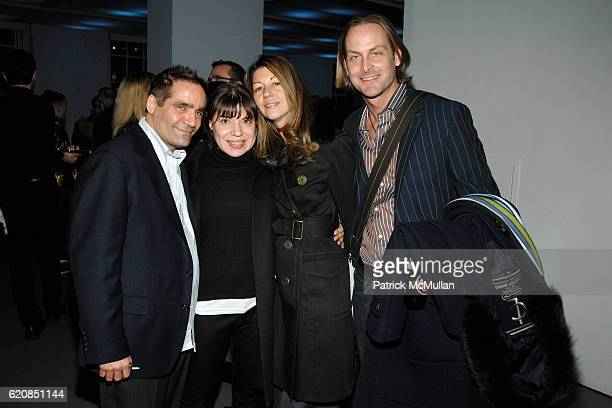 Scott Taylor Sylvia Heisel Sally Randall Brunger and Andrew Brunger attend SWAROVSKI Cocktail Party to announce the Nominees Honorees of the 2008...