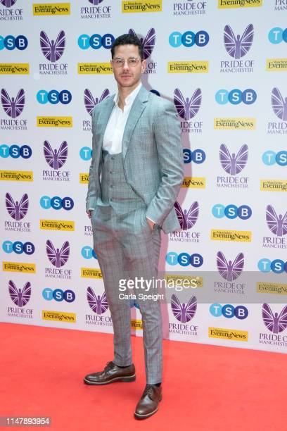 Scott Thomas attends the Pride of Manchester Awards 2019 at Waterhouse Way on May 08 2019 in Manchester England