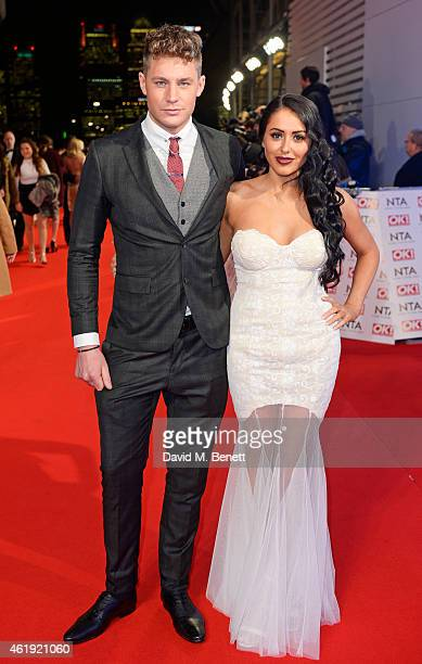 Scott Timlin and Marnie Simpson attend the National Television Awards at 02 Arena on January 21 2015 in London England