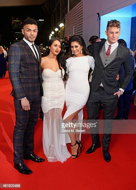 Scott Timlin Marnie Simpson Chloe November and Nathan Henry attend the National Television Awards at 02 Arena on January 21 2015 in London England