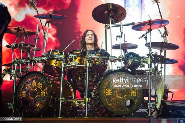 Scott Travis from Judas Priest performs at Zenith de Paris on January 27 2019 in Paris France