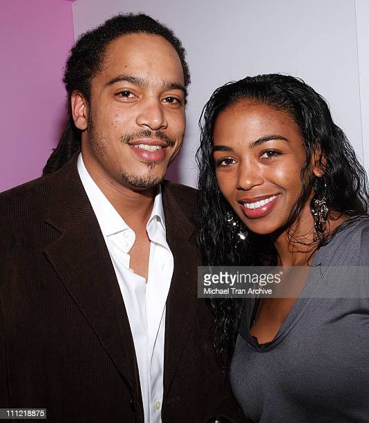 Scott Tucker and Ananda Lewis during Evian Detox Spa Launch Party February 27 2006 at Evian Detox Spa in Beverly Hills California United States