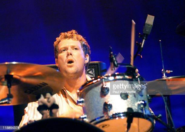 Scott Underwood during Train In Concert at the Hammerstein Ballroom July 22 2003 New York at Hammerstein Ballroom in New York City New York United...
