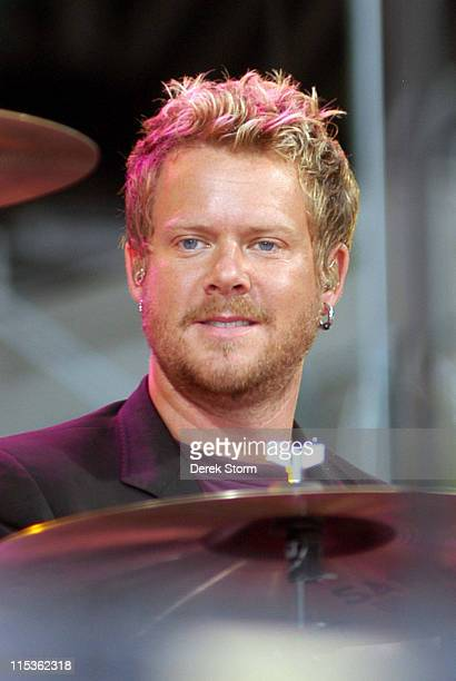 Scott Underwood of Train during Train Performs at 'Good Morning America' Summer Concert Series at Bryant Park in New York City NY United States