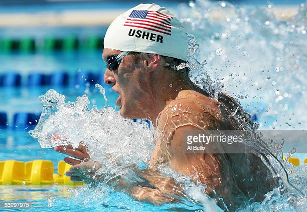 Scott Usher of the United States competes in the preliminary heat of the 200 meter Breaststroke the XI FINA World Championships at the Parc...