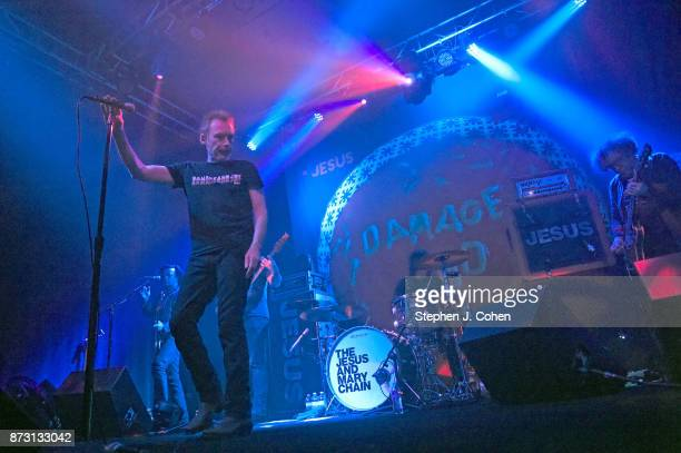 Scott Von RyperÊ Mark Crozer Brian Young Jim Reid and William Reid of The Jesus And Mary Chain performs at Headliners Music Hall on November 11 2017...