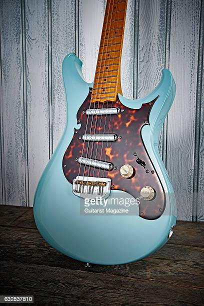 A Scott Walker Electro electric guitar with a Sonic Blue finish taken on February 8 2016